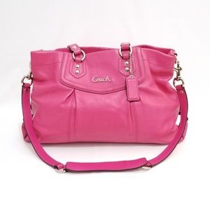 Coach Pink Leather Ashley Satchel